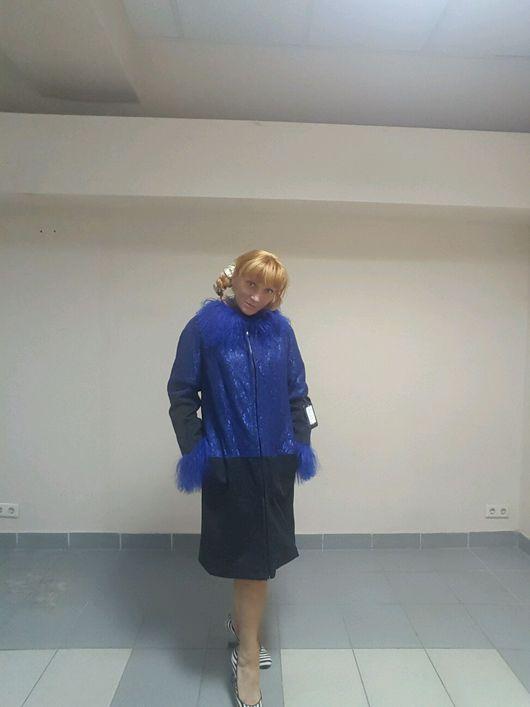 Верхняя одежда ручной работы. Ярмарка Мастеров - ручная работа. Купить Демисезонное Пальто Кокетка. Handmade. Пальто, орнамент