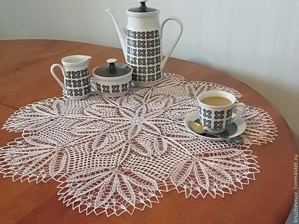 Decorative napkins: Napkin ' Clover', Doilies, Vologda,  Фото №1