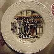 """Винтажные тарелки ручной работы. Ярмарка Мастеров - ручная работа Антикварная тарелка""""Жизнь Лондона""""Англия. Handmade."""