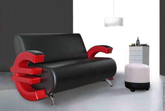 Мебель ручной работы. Ярмарка Мастеров - ручная работа. Купить Копия работы диван офисный, для салона. Handmade. Черный, прикольный