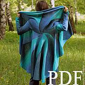 Материалы для творчества handmade. Livemaster - original item A master class in PDF Circular knitted coat - transformer Description. Handmade.
