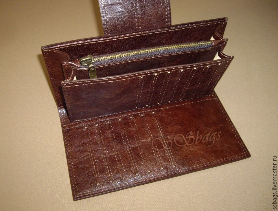 Purse, clutch, Italian genuine leather, Wallets, St. Petersburg,  Фото №1