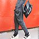 R00021 Брюки спорт шик брюки летние модные штаны с мотней
