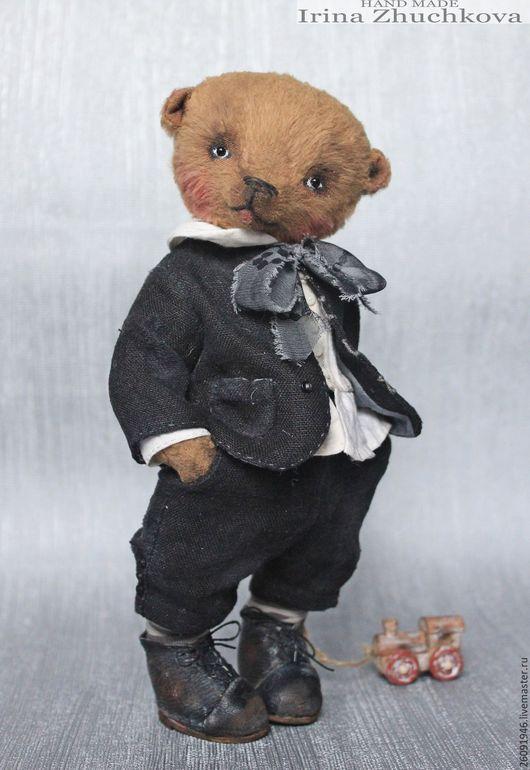 """Мишки Тедди ручной работы. Ярмарка Мастеров - ручная работа. Купить """"Павлуша"""". Handmade. Коричневый, мишка мальчик, авторская работа"""