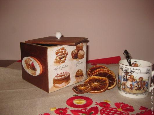 """Кухня ручной работы. Ярмарка Мастеров - ручная работа. Купить Короб  """"Десерт"""". Handmade. Коричневый, украшение кухни, дерево"""