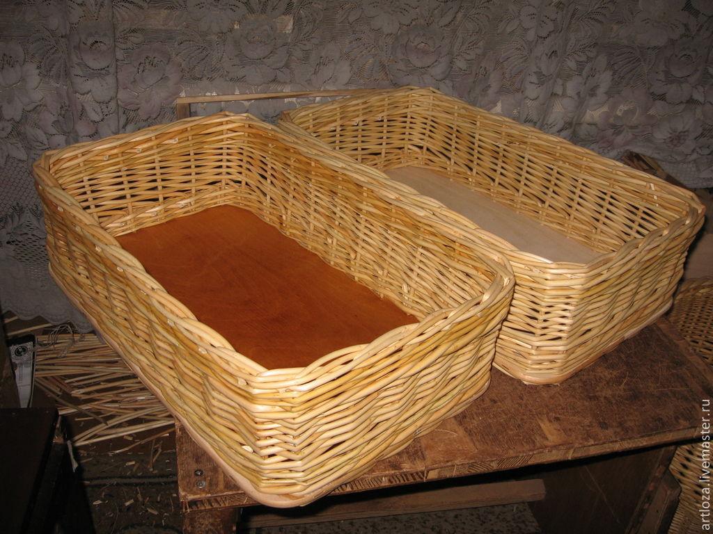 Плетеный короб для хранения из натуральной лозы, Короб, Тамбов,  Фото №1