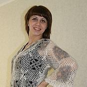 Одежда handmade. Livemaster - original item 31-down blouse crochet, two tone, clothing. Handmade.
