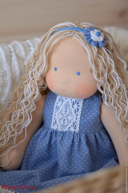Вальдорфская игрушка ручной работы. Ярмарка Мастеров - ручная работа. Купить Вальдорфская кукла Снежинка. Handmade. Вальдорфская кукла