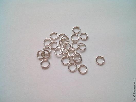 Для украшений ручной работы. Ярмарка Мастеров - ручная работа. Купить Колечки 4 мм серебро 925 проба. Handmade.
