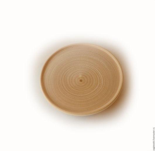 Декупаж и роспись ручной работы. Ярмарка Мастеров - ручная работа. Купить Заготовка тарелка диаметр 9 см. толщина 1,5 см.. Handmade.