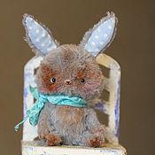 Куклы и игрушки ручной работы. Ярмарка Мастеров - ручная работа Зайчик карманный. Handmade.