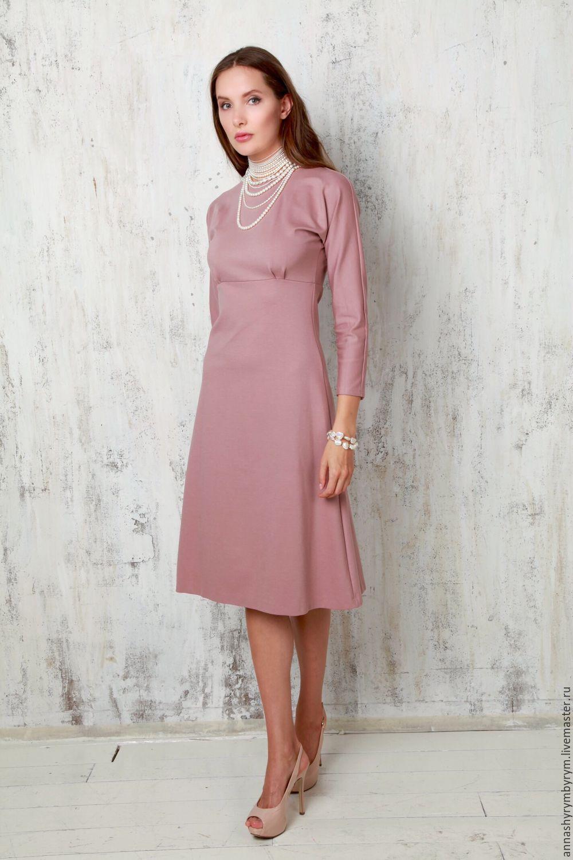 Трикотажное платье с розой