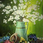 Картины и панно handmade. Livemaster - original item Spring in a jar. Handmade.