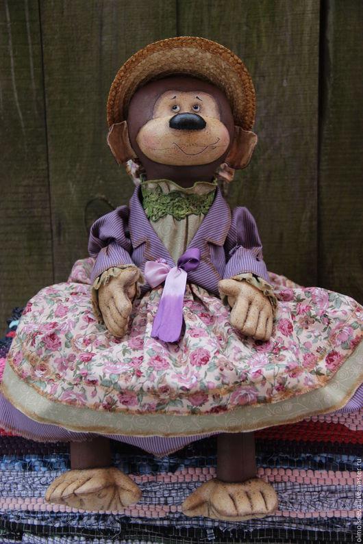 Ароматизированные куклы ручной работы. Ярмарка Мастеров - ручная работа. Купить Обезьянка в шляпке 2. Handmade. Коричневый, обезьянка, кофе