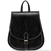 Сумки и аксессуары handmade. Livemaster - original item Leather backpack the Herald (black). Handmade.