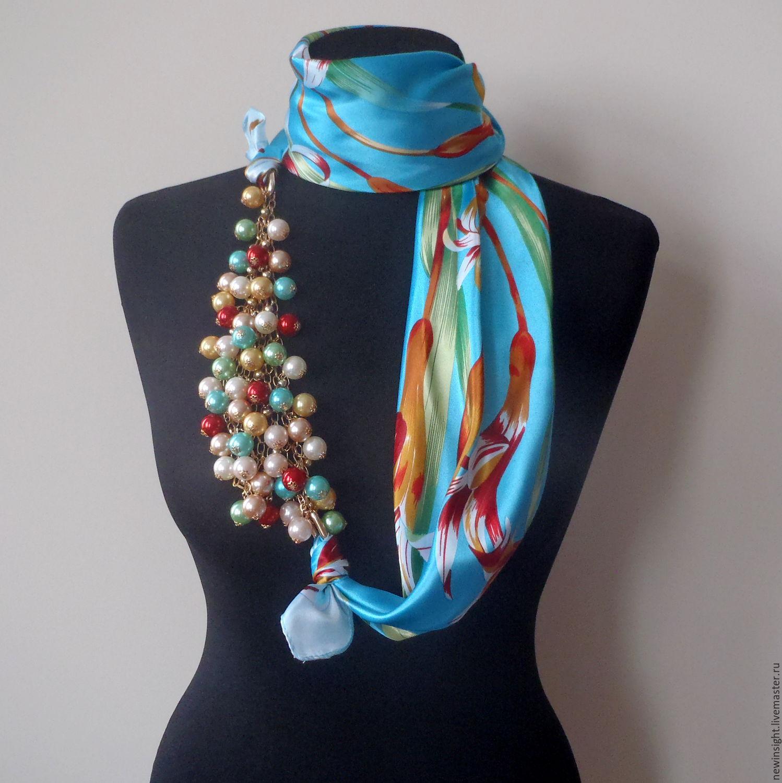Как сделать шарф бусы