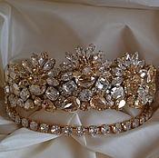 Украшения ручной работы. Ярмарка Мастеров - ручная работа WEDDING CROWN GOLDEN SHADOW с 3D эффектом комплект. Handmade.