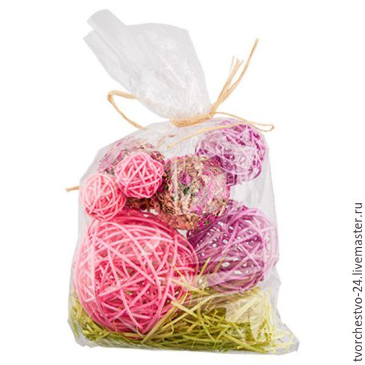 Украшения для цветов ручной работы. Ярмарка Мастеров - ручная работа. Купить Набор шаров для декора, цвета в ассортименте. Handmade. Интерьер