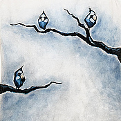"""Одежда ручной работы. Ярмарка Мастеров - ручная работа Готовая работа Майка, ручная роспись """"Птахи"""". Handmade."""