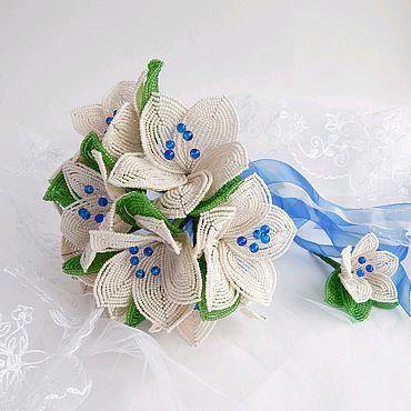 Свадебный салон ручной работы. Ярмарка Мастеров - ручная работа Свадебный букет из бисера. Handmade.