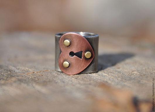 """Кольца ручной работы. Ярмарка Мастеров - ручная работа. Купить Кольцо """"Где ключ?"""". Handmade. Серебряный, авторское кольцо, латунь"""