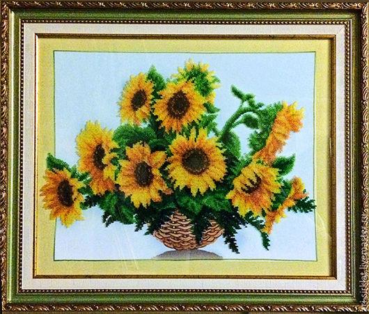 Персональные подарки ручной работы. Ярмарка Мастеров - ручная работа. Купить Подсолнухи. Handmade. Желтый, цветы, подсолнухи