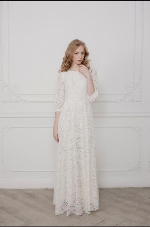 Платье летнее белое кружевное платье