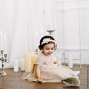 Одежда ручной работы. Ярмарка Мастеров - ручная работа Экслюзивное детское вечернее платье с цветами. Handmade.