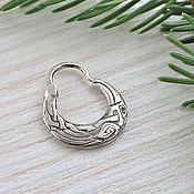 Earrings handmade. Livemaster - original item Earring for men Raven. Handmade.