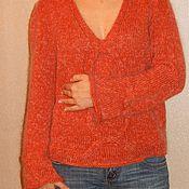 Одежда ручной работы. Ярмарка Мастеров - ручная работа Пуловер из шерсти, шелка и кидмохера. Handmade.
