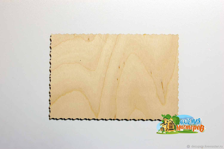 Деревянная открытка Размер: 10 х 15 см Материал: фанера 3 мм
