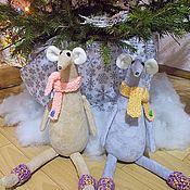 Мягкие игрушки ручной работы. Ярмарка Мастеров - ручная работа Мышки гостевые. Handmade.