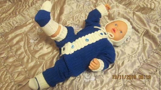 Для новорожденных, ручной работы. Ярмарка Мастеров - ручная работа. Купить Комплект  для малыша. Handmade. Тёмно-синий, комплект для малыша