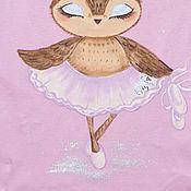 Одежда ручной работы. Ярмарка Мастеров - ручная работа Детская футболка с совушкой. Handmade.