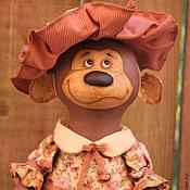 Куклы и игрушки ручной работы. Ярмарка Мастеров - ручная работа Обезьянка в шляпе. Handmade.