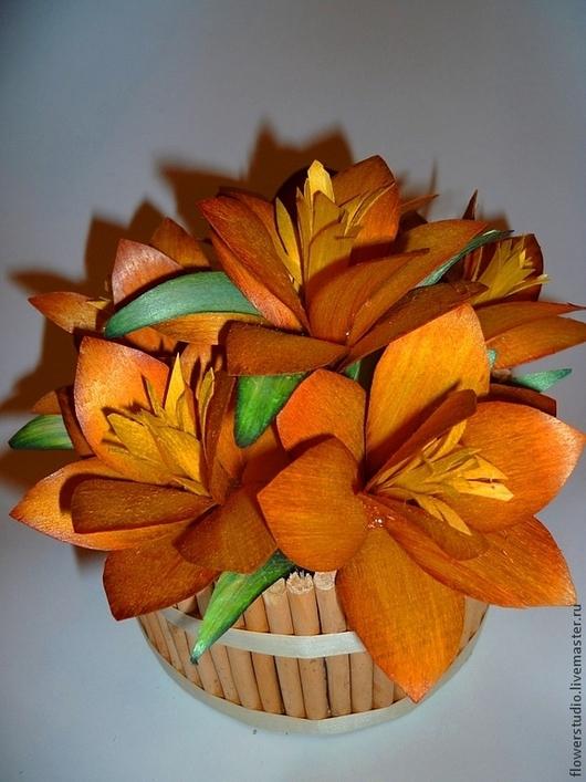"""Интерьерные композиции ручной работы. Ярмарка Мастеров - ручная работа. Купить Цветочная композиция """"Летний зной"""". Handmade. Оранжевый, ива"""