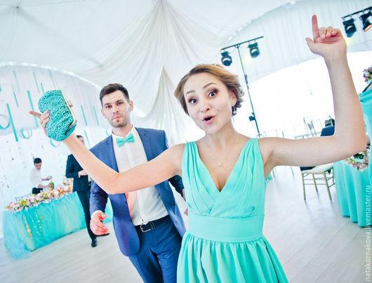 Платья ручной работы. Ярмарка Мастеров - ручная работа. Купить Платье подружки невесты-2. Handmade. Бирюзовый, платье в пол