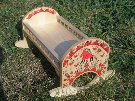 Кукольный дом ручной работы. Ярмарка Мастеров - ручная работа. Купить Кроватка для вальдорфской куклы. Handmade. Кровать для куклы, дерево