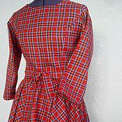 Одежда ручной работы. Ярмарка Мастеров - ручная работа Платье Шотландка. Handmade.