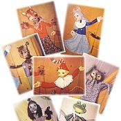 """Кукольный театр ручной работы. Ярмарка Мастеров - ручная работа Кукольный театр.Тростевые куклы к спектаклю"""" Приключение Буратино"""". Handmade."""