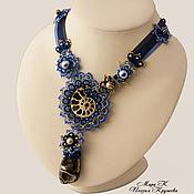 Богатства моря Авторское колье анкарс фриволите, ожерелье