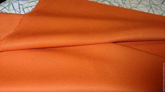 Шитье ручной работы. Ярмарка Мастеров - ручная работа. Купить Ткань костюмная, ост. 0,5м.. Handmade. Рыжий, ткань