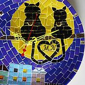 """Часы ручной работы. Ярмарка Мастеров - ручная работа Часы настенные """"Влюбленные коты"""". Handmade."""