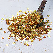 Материалы для творчества handmade. Livemaster - original item Sequins 3 mm No. №25 Gold 2 g. Handmade.