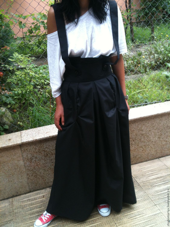 юбка на лямках фото
