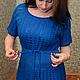 Платья ручной работы. Вязаное платье авторское Паучки. IRINASHIROKOVA. Ярмарка Мастеров. В полоску