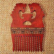 Украшения handmade. Livemaster - original item Мedieval crest, inlaid wood, comb Slavic fantasy horses. Handmade.