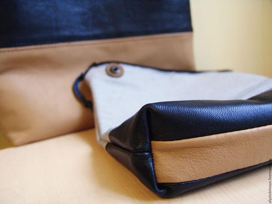 """Женские сумки ручной работы. Ярмарка Мастеров - ручная работа. Купить Набор сумка пакет """"Duplex III""""+ косметичка. Handmade."""