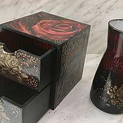 Вазы ручной работы. Ярмарка Мастеров - ручная работа Набор Роза (мини-комодик и ваза). Handmade.