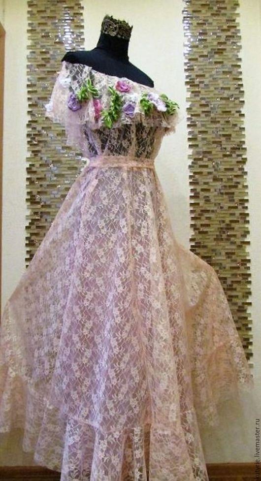 """Платья ручной работы. Ярмарка Мастеров - ручная работа. Купить Авторское платье """"Princess Lace"""". Handmade. Нежные цвета, белый"""
